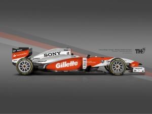 Vit/Orange Koncept McLaren F1 2015