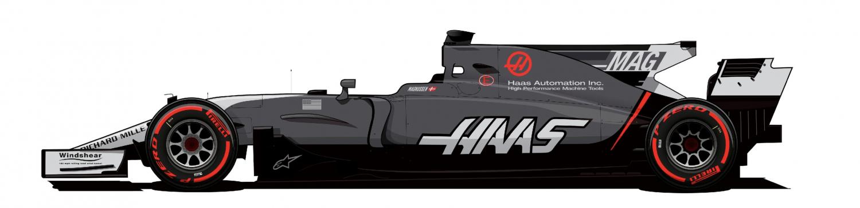 Haas VF17 Magnussen variant