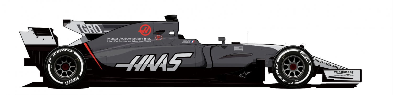Haas VF17 Grosjean variant