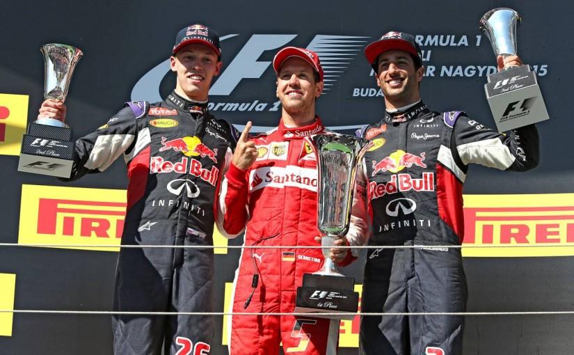 Vettel, Kvyat, Ricciardo på pallen i Ungerns GP 2015